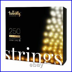 Twinkly 250 LED Amber & White 65.5 Ft Bluetooth Outdoor Christmas Icicle Lights