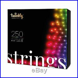 Twinkly Bluetooth and Wi-Fi String Lights 250 LEDs Multicolor, RGB Generation II