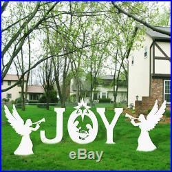 UNOMOR Christmas Outdoor Nativity Set Garden Joy Nativity Scene Yard Sign Set