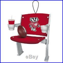 University of Wisconsin-Madison Stadium Chair Christmas Ornament