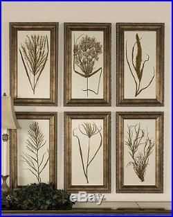Uttermost Wheat Grass ISet of 6 Bronze Undertone 41151