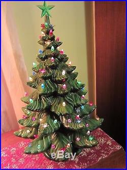 Vintage Atlantic Christmas Tree 24 Inch Ceramic High Gloss