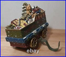 VINTAGE CHRISTMAS EXPRESS TRAIN TOY CAR STOCKING HOLDER 6in. RARE