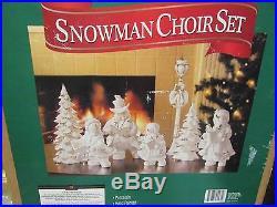 Vintage Member's Mark Porcelain Snowman Choir Set Mib