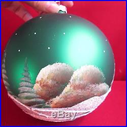 Vitbis Large Christmas Ornament Glass Ball Hand Painted