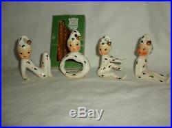 VTG Holt Howard PIXIE ELF N O E L Candle Holders 1958 Japan Candles
