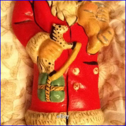 Vaillancourt Father Christmas holding Child 13th Starlight 2002 Signed by Judi