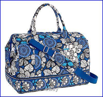 Vera Bradley Frame Travel Bag in Blue Bayou