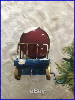 Very Rare Christmas Express Egg Nog Cart Stocking Holder