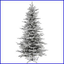 Vickerman 10 ft. Flocked Sierra Fir Slim Christmas Tree, Unlit