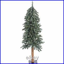 Vickerman 4′ Natural Bark Alpine Artificial Christmas Tree Unlit