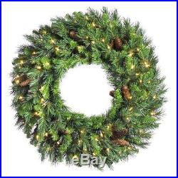 Vickerman 60 in. Cheyenne Wreath, Greens, 60 in