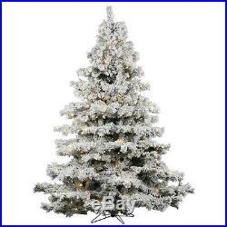 Vickerman 65 Flocked Alaskan Pine Artificial Christmas Tree with 600 Warm White