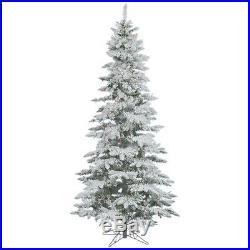 Vickerman 65 Flocked Slim Utica Fir Artificial Christmas Tree with 300 Warm LED