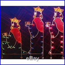 Vickerman 66 Three Wisemen Nativity Silhouette Lighted Wire Frame Christmas