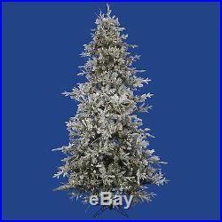 Vickerman 7.5′ Pre-lit Frosted Wistler Fir Artificial Christmas Tree Clear