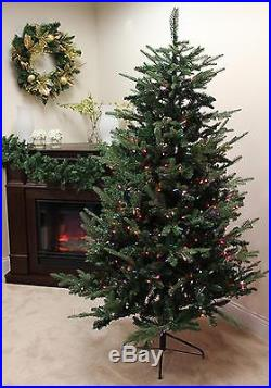Vickerman 7′ Pre-lit Grantwood Pine Artificial Christmas Tree Multi Lights