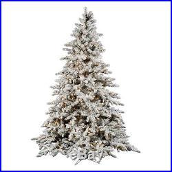 Vickerman 9 ft. Flocked Slim Utica Fir Multi LED Christmas Tree, White, 9 ft