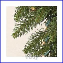 Vickerman Camdon Fir 8.5′ Green Artificial Slim Christmas Tree with Stand