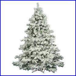 Vickerman Flocked Alaskan Unlit Christmas Tree, 6.5 ft