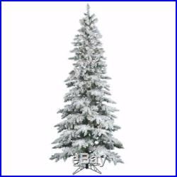Vickerman Flocked Slim Utica Tree with Dura-Lit 300 Clear Lights, 6.5-Feet by