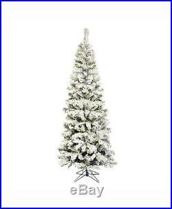 Vickerman Unlit 6.5' Flocked Pacific Artificial Christmas Tree