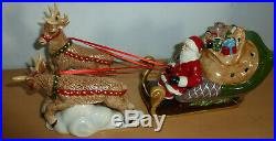 Villeroy & Boch großer Santa Schlitten Christmas Toys Weihnacht Deko Porzellan