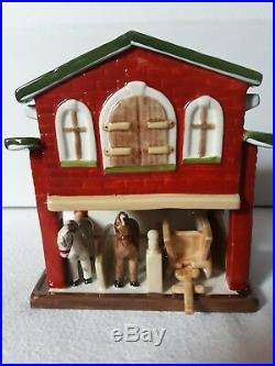 Villeroy und Boch Pferdestallung Teelichterhaus Toy Village Absolut Selten Neu
