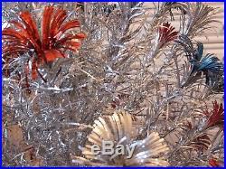 Vintage 1950s 1960s William Grafton ANGEL PINE POM POM Tinsel Christmas Tree
