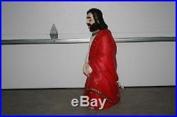 Vintage 32 Beco or Empire Blow Mold Nativity Set Mary Joseph Jesus Manger