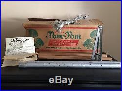 Vintage 6′FT Sparkler Pom Pom (#M-91) 91 Branches Aluminum Christmas Tree