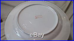 Vintage Alco Industries Christmas Tree Set of 8 pc 10 Dinner Plates Lot China
