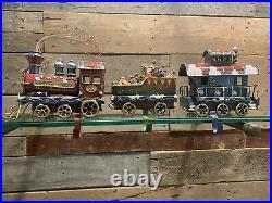 Vintage CHRISTMAS EXPRESS Train Stocking Holder Engine Toys Caboose