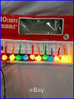 Vintage Christmas Holiday Bubble Lights package of 10 IN BOX fully tested