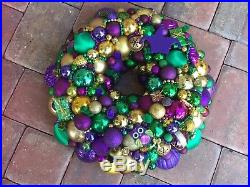 Vintage Christmas ornament wreath 18 Inch 21714 Shiny Brite Mardi Gras Germany