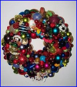 Vintage Christmas wreath ornament 18 Inch Germany Glass 17046 Shiny Brite