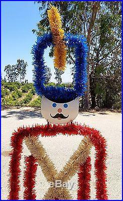 Vintage Christmas yard decoration 6′ steel framed Nutcracker toy soldier 1980s
