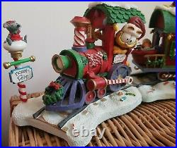 Vintage Danbury Mint'Garfield's Christmas Express' Porcelain Figurines New