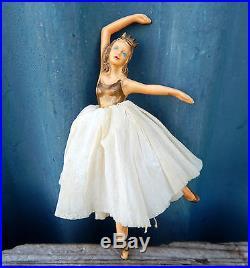 Vintage Dibro Fairy Angel Christmas Tree Decoration Ballerina Retro Airfix 50s