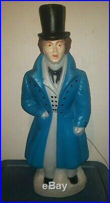 Vintage General Foam Blow Mold Charles Dickens Christmas Caroler Singer Male 38