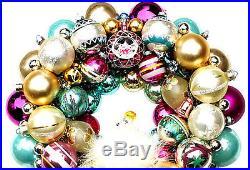 Vintage Josef Angel Christmas Ball Ornament Wreath Shiny Brite Mercury Glass