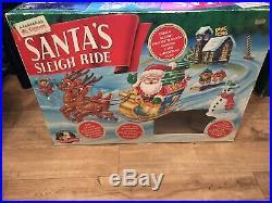 Vintage Mr Christmas Santas Sleigh Ride Train Track Animated
