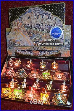 Vintage Pifco Cinderella coach and lanterns Christmas tree Lights 1978 orig box