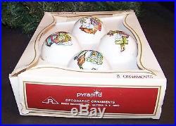 Vintage Rauch Christmas Ornaments Set of 4 Holly Hobbie