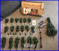 Vintage Retro 1970s Selfridges polyethylene Cypress 4ft Christmas Tree With Box