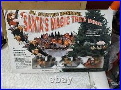 Vintage Santa's Magic Tree Ride Electric Christmas Tree OrnamentTrack Noma Train