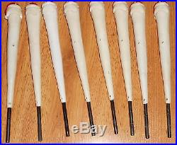 Vintage Set of 8 Santa Claus Light Stakes Christmas Holiday Celluloid