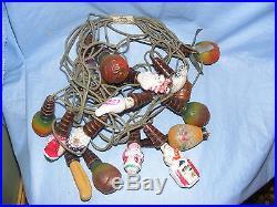 Vintage String Glass Figural Christmas Light Bulbs