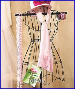 Vintage Wire Metal Dress Form Mannequin Clothes Scarves Boutique Shop Stage New