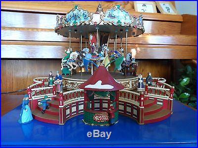 Vintage and Rare Joyful Mr. Christmas Holiday Around the Carousel 27910